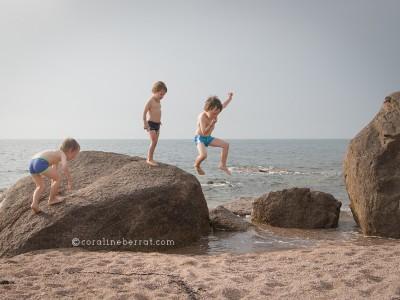 Séance photo enfants à la plage