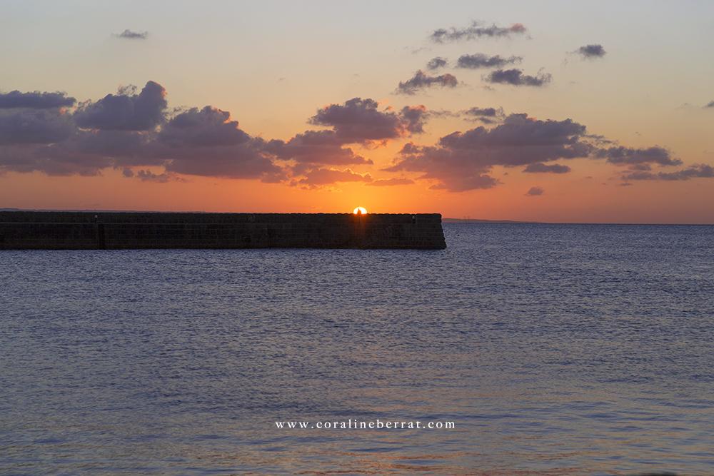 port fermanville coucher de soleil