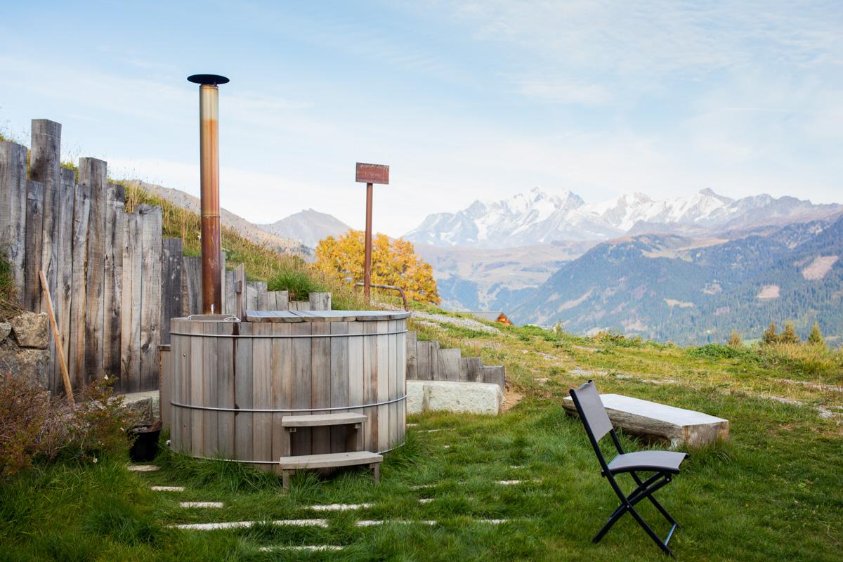 chalet nantilly hauteluce bain nordique vue mont blanc